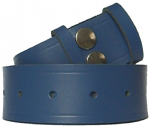 38mm Blue Leather Belt Snap Fit